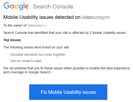 Mobile usability issues email
