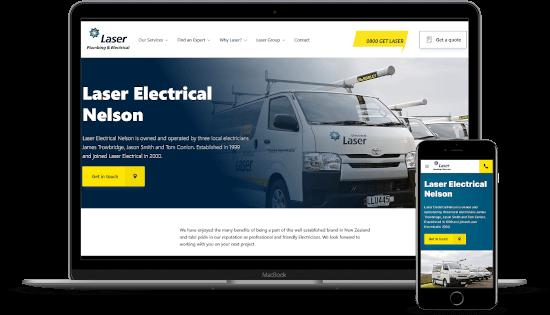 Electrician trade website